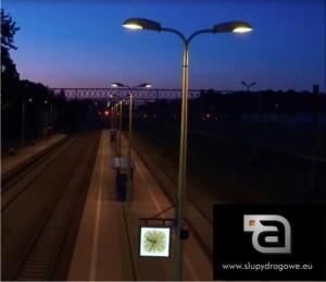 Kompozytowe słupy oświetleniowe